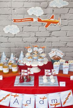 Airplanes & Clouds Birthday Party Ideas | Photo 1 of 10 | Catch My Party