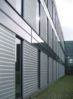 """Sliding sun shade elements with special """"slot perforation"""" 