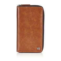 55629027db9  Leather-look Travel document holder Zip side fastening Height 20cm