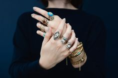 Our newest collection of Antique and Conroy & Wilcox Jewelry at Metier.  Photo: Maria del Rio