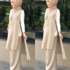 Office Look Casual Hijab – Hijab Fashion 2020 Abaya Fashion, Muslim Fashion, Modest Fashion, Fashion Dresses, Outfits Casual, Dress Outfits, Casual Dresses, Casual Ootd, Hijab Casual