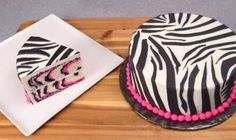 Learn how to make Zebra Cake, a delicious desert cake recipe.wonder how to make a perfect Zebra cake and that too egg less. Cookies Cupcakes And Cardio, Cupcake Cookies, Pink Zebra Cakes, How To Make Pink, Chocolate Basket, Striped Cake, Cake Videos, Cake Tutorial, Gastronomia