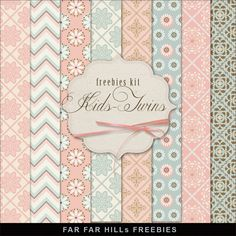 New Freebies Kit of Backgrounds - Kids-Twins:Far Far Hill - Free database of digital illustrations and papers