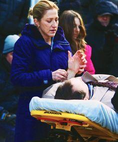Edie Falco filming season 5 Nurse Jackie, My People, Couple Photos, Couple Shots, Couple Pics