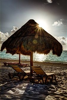 carribean mexico palapa...maybe if I close my eyes and wish real hard I'll be there
