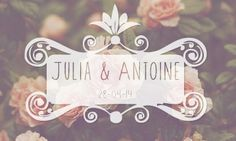 faire-part mariage rose, fleur, boheme