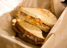 Monterey Jack and chevre cheese are melted over crisp, smoky bacon and apricot-jalapeo relish on a platform of country white bread. carnivore-and-other-main-dishes Jalapeno Relish, Jalapeno Poppers, Chevre Cheese, Tillamook Cheese, Best Sandwich Recipes, Wrap Recipes, Fall Recipes, Yummy Recipes, Wrap Sandwiches