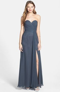$258, Faviana Sweetheart Chiffon Gown. Sold by Nordstrom. Click for more info: https://lookastic.com/women/shop_items/129535/redirect