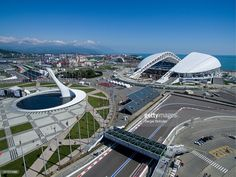 SOCHI, RUSSIA. MAY 2, 2016. An aerial view of the Fisht Stadium, a venue of the…