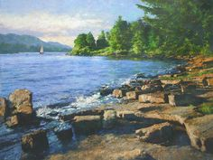 CMDudash - Available Paintings - Landscapes on the shore of lake champlain