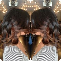 Balayage'd chocolate black and brown - Hairstyles and Beauty Tips