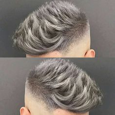 "3,761 Likes, 20 Comments - MENS HAIR STYLES & BEARDS (@menshairworld) on Instagram: ""@jose_the_barber_10 - Love that Silver Grey Colour!"""
