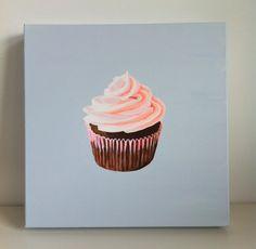 Cupcake Art - Original canvas painting - Cocostyle Studio