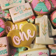 "For the ""wild one"". #wildonebirthday #firstbirthday #decoratedsugarcookies #decoratedcookies #sweettcakes by sweettcakes"