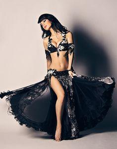 Ameera Paone beautiful black cabaret costume.