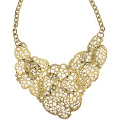 AX Paris Statement Gold Cluster Necklace ($20) ❤ liked on Polyvore featuring jewelry, necklaces, accessories, colares, collares, gold, gold collar necklace, gold necklace, gold jewelry and yellow gold jewelry