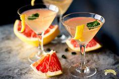 Classic and simple, grapefruit basil martini.