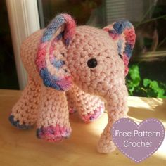 Meimei: Free Baby Elephant Crochet Pattern - Look At What I Made This is a join-as-you-go pattern, meaning that the ears and legs are crocheted onto the body as you go...which means hardly any sewing! #crochet