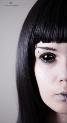 Halloween Contact Lenses Black Sclera #halloween #contact #lenses www.loveitsomuch.com