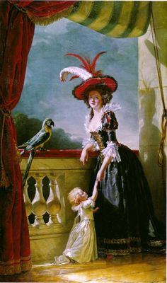 Portrait of Louise-Elisabeth of France with her Son by Adélaïde Labille-Guiard, 1788 France, Versailles Love those sleeves!