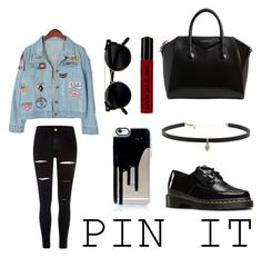 """Pin it"" by ajengalstr ❤ liked on Polyvore featuring River Island, Carbon & Hyde, Dr. Martens, Givenchy, NYX and Chicnova Fashion"