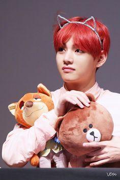 kim taehyung red hair photoshoot - Pesquisa Google