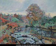 Paysage De La Creuse, Vue Du Pont Charraud - Armand Guillaumin - www.armandguillaumin.org