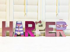Custom made Doc Mcstuffins inspired letters by KiddieKreations15