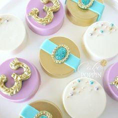 Princess Jasmine inspired chocolate covered Oreos #cakepoppn
