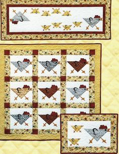 Running Chickens quilt pattern
