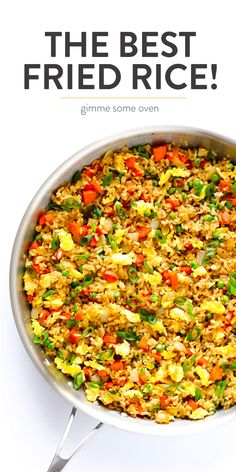 The BEST homemade fried rice recipe! It only takes 15 minutes to make, it's easy to customize with your favorite add-ins (like chicken, pork, beef, shrimp Quinoa Fried Rice, Fried Rice With Egg, Making Fried Rice, Vegetable Fried Rice, Fried Vegetables, Pork Fried Rice Easy, Rice With Vegetables, Chinese Egg Fried Rice, Vegetarian Fried Rice