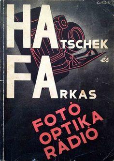 Hatschek and Farkas photography, optics, radio (Bortnyik Sándor, 1933.)
