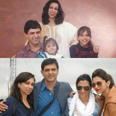 Deepika with family