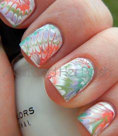 reto hippies hippy nail art mancure tie dye dip pastel summer neons hot baby