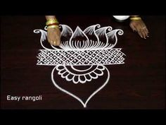latest easy free hand rangoli designs * simple kolam with out dots * muggulu designs * rangavalli