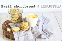 Basil shortbread & lemon curd :: Food