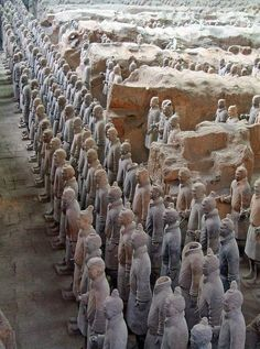 the terracotta army, xi'an, china   travel destinations in east asia + ruins #wanderlust