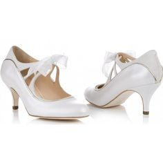 Rachel Simpson Blossom Ivory Leather & Suede Vintage Designer Wedding Shoes – SALE  ...