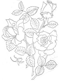 Free Hand Embroidery Flowers Patterns | EMBROIDERY PILLOWCASE PATTERN - EMBROIDERY DESIGNS