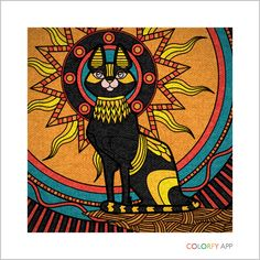Egyptian cat colorfy