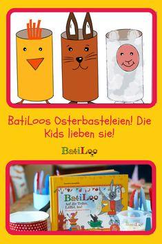Crafts for Easter – our dwarfs can do it all by themselves – BatiLoo - Kinderspiele Dwarf, Easter, Canning, Tricks, Crafts, Blog, Craft Instructions For Kids, Shoe Box, Kids Discipline