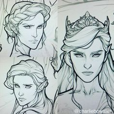 """Mi piace"": 8,293, commenti: 152 - charlie bowater (@charliebowater) su Instagram: ""Aaand the clean lines for Nesta, Elain & Feyre Getting there slowly! *sweats* #ACOWAR #sjmaas…"""