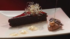 Chocolate Torte, with Mousse and Frangelico Jelly (My Kitchen Rules) Chocolate And Raspberry Tart, Chocolate Torte, Raspberry Tarts, Chocolate Mousse Recipe, Chocolate Desserts, Jelly Recipes, Sweet Recipes, Dessert Recipes, No Bake Vanilla Cheesecake