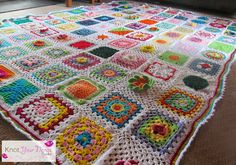 Knot Your Nana's Crochet: Granny Square CAL (Finished Blanket)