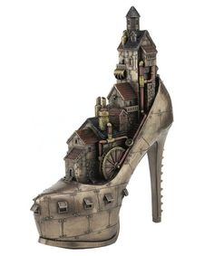 """Bronze Steampunk """"Stiletto Heel Hill, Ironopolis"""" Sculpture The Effective Pictures We Offer You About Steampunk Fashion mask A quality picture can tell you many things. You can find the most beautiful Chat Steampunk, Moda Steampunk, Arte Steampunk, Steampunk Artwork, Style Steampunk, Steampunk Crafts, Steampunk Design, Steampunk Clothing, Steampunk Fashion"""