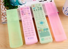 4pcs/lot Silicone Video TV Air Condition Remote Controler Protective Cases Cover Waterproof Dust Protector Pouch Storage Bag