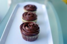 Around le globe: Chocolate cupcakes with Nutella cloud frosting
