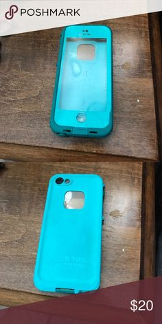 Life proof iPhone 5 case Blue life proof case for iPhone 5. Is used. But still useable and still works! Some of rubber on the side came off but still works and protects the phone! Offers are accepted as well as questions! Accessories Phone Cases