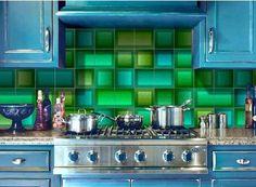 Decorative tile panels for kitchen or bathroom backsplashes