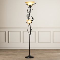 """Found it at Wayfair - Crystal 2 Light 72"""" Torchiere Floor Lamp"""